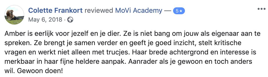 MoVi Academy online hondenschool review