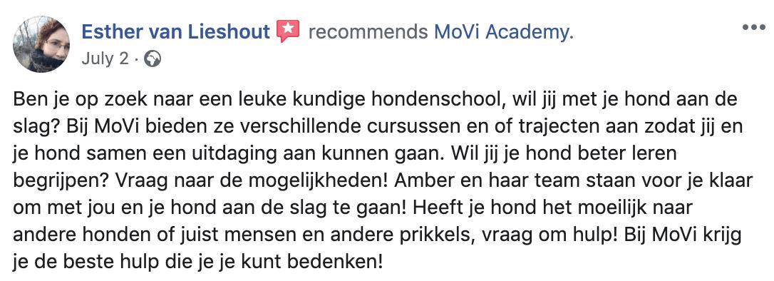 Rotweiler hondentraining recensie - MoVi Academy online hondenschool