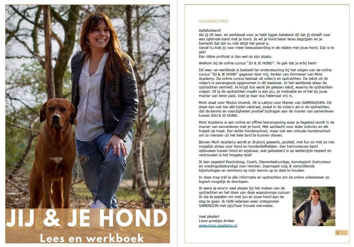 Jaarcursus JIJ en je hond - MoVi Academy - hondentraining